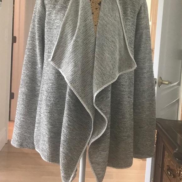 Ellen Tracy Sweaters Tweed Blazer W Leather Elbow Patches Poshmark